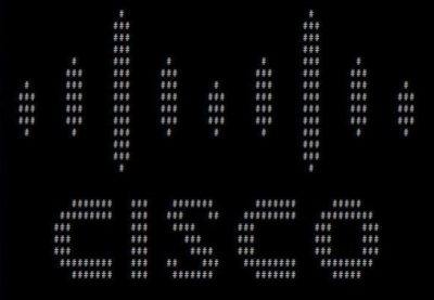 ASCII art is the best. Even Cisco can't resist.